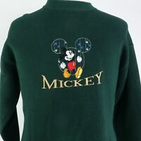 VTG MICKEY & CO FOTL MICKEY MOUSE USA MADE EMBROIDERED 90s SWEATSHIRT SIZE L