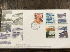 Canada 🇨🇦 Post Fdc 1972 sc#594-598 Landscape definitives combo (10¢ to 50¢)