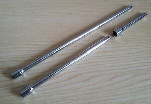 "1/4"" Socket Bar Extension Set for Ratchet Drive Quick Change Male Female 3 Pce"