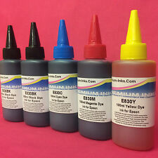 5x100ml Ink Refill Bottles For Epson Stylus B1100 B 1100 A3 Printer