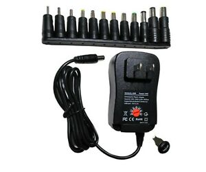 30W Universal Adjustable AC/DC Power Adapter 6V 9V 12V Power Supply Plug Charger