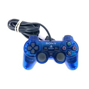 Sony PlayStation 2 DualShock 2 Analog Wired Controller SCPH-10010 Blue Tested