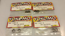 yokomo bb106-2 rc  ball bearing 4 packs 6mmx10mm genuine parts rc car rare