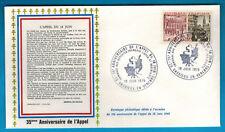 1975-Enveloppe-Fdc 1°Jour**Appel du 18 Juin-Obl.Vassieux.Timbre.Yt.1410