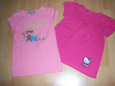 Lot de 2 tee-shirts MC roses fille 5 ANS