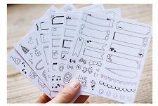 6 sheet Can write sticky notes calendar diary notebook decorative paper sticker