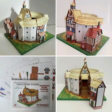 SHAKESPEARE'S GLOBE THEATRE FULL COLOUR A5 CARD CUT OUT MODEL KIT