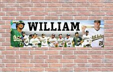 Oakland Athletics 2020 Roster Personalized Poster Customized Banner Frame Option