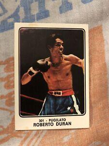 1973 Campioni Panini Boxing Card Sticker Roberto Duran RC Rookie HOF