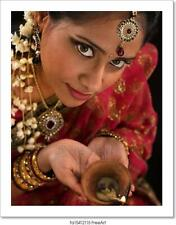 Diwali Indian Female With Art/Canvas Print. Poster, Wall Art, Home Decor - D