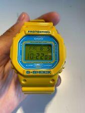 CASIO G SHOCK Reloj Cuadrado DW5600CS amarillo y azul Crazy Colores Limitado Raro