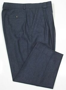 GIANNI VERSACE Versus Vintage 1990's Blue Fleece Wool Dress Pants 38 x 26