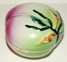 Old Item ~ Temple Altar ~ Longevity Peach ~ Porcelain Box ~ Early National China