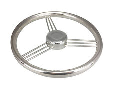 "Pactrade Marine Polished S.S 304 Boat 9 Spoke Steering Wheel 13 1/2"" - 15°"