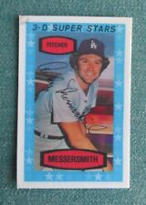 1975 KELLOGGS 3-D BASEBALL ANDY MESSERSMITH #30 LOS ANGELES DODGERS CARD