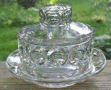 EAPG Giant Bullseye Findlay Bellaire Glass Butter Dish c. 1880