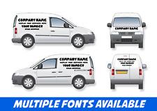 Small Van Signage Full Set Business Vinyl Stickers Graphics VAT INVOICE PROVIDED