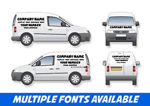 Small Van Signage Full Set Business Vinyl Stickers Graphics