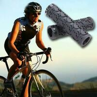 Rubber Skull Bicycle Grips Lock-on Bar Cover For Road Fixed Gear