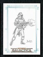 2004 The Complete Battlestar Galactica Cylon Sketch Card By Artist David Day