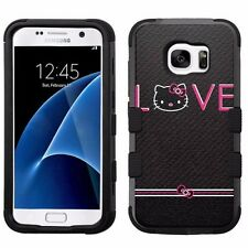 Hello Kitty #L Impact Hard+Rubber Hybrid Case for Samsung Galaxy S7