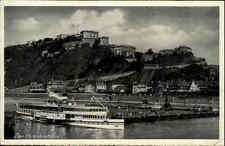 Rhein ~1930 Schiff Dampfer VATERLAND KO-Ehrenbreitstein von Hoursch & Bechstedt