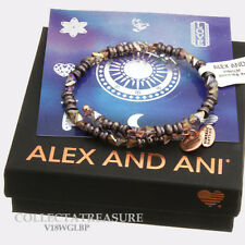 Authentic Alex and Ani Glimmer Wrap, Metallic Burgundy Beaded Bangle