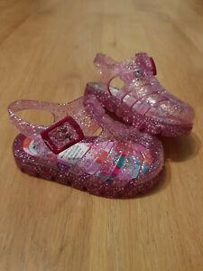 JOULES JUJU Jelly Sandals UK INF 4,10 Pink Glitter BNWT