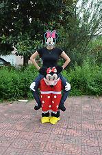 Minnie Mouse Halloween Handmade Mascot Costume Dress Ride On Piggy Back Adults A