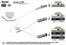 COLLECTEUR ARROW INOX RACING HONDA INTEGRA / NC 700 S/X - 71464MI
