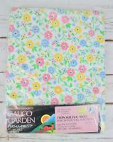 Sears Calico Garden Country Mixables Vtg Twin Flat Sheet Pink Blue Yellow Floral