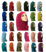 Ladies Fashion Big Large Maxi Long Wide Plain Viscose Scarf/Hijab Shawl/Wrap