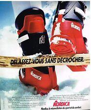 Publicité Advertising 1975 Les chaussures de ski Nordica