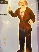 Nwt Zombie Pirate Halloween adult men full costume,mask, top,belt 40-42
