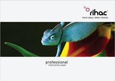 Premium Satin Studio Weave A6 Inkjet Photo Paper 260gsm 20pk RC Coated RIHAC