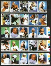 Mahatma Gandhi 25 STAMPS - 5 Different countries