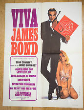 Affiche de cinéma : VIVA JAMES BOND 007 - SEAN CONNERY
