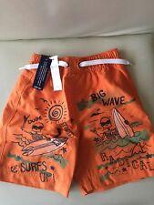 BNWT Baby Gap Swim Shorts Orange 18-24 months Sun UV 50 protection Mesh Lining