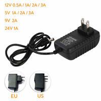 DC5V 12V 9V 24V 1A 2A 3A 0.5A Power Supply Adapter US EU Plug LED Strip light GL