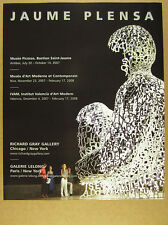 2007 Jaume Plensa letters human body sculpture photo NYC gallery print Ad