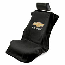 ONE BRAND NEW Universal Black Seat Towel Seat Armour Cover With Chevrolet Logo