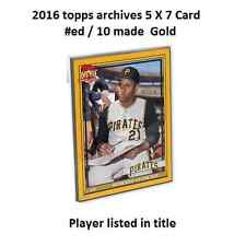 JOSE CANSECO #110 Athletics 2016 Topps Archives 1979 GOLD Version 5x7 #/10 made
