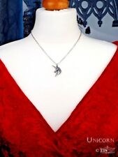 Ladies Girls Unicorn Head Horse Shape Pendant Necklace By Alchemy of England