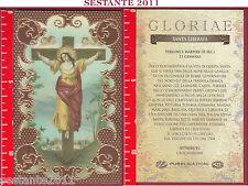 C168 SANTINO HOLY CARD S. SANTA LIBERATA VERGINE E MARTIRE 11 GENNAIO
