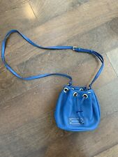 Marc By Marc Jacobs Crossbody Small Bucket Bag Blue With Gold Hardwear