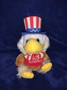 "VINTAGE 1984 LA OLYMPICS 8"" Applause Sam the Olympic Eagle Mascot Plush"