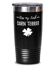 St Patricks Day Cairn Terrier Dog Mom 20oz Tumbler Travel Mug Funny Irish