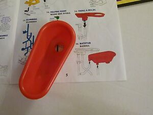 MOUSE TRAP RED BATHTUB #16 Replacement GAME PIECES PARTS mousetrap