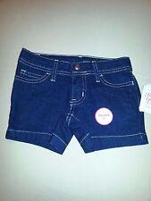 Faded Glory Everyday Blue Jean Shorts Adjustable Waist Girls size 4 NWT