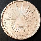 1908 MEXICO A.M. SECOND REPUBLIC Peso KM# 409.2 SILVER Very Nice Details!